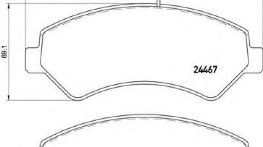 Set placute frana,frana disc FIAT DUCATO caroserie (250, 290) (2006 - 2016) BREMBO P 61 118 - produs NOU