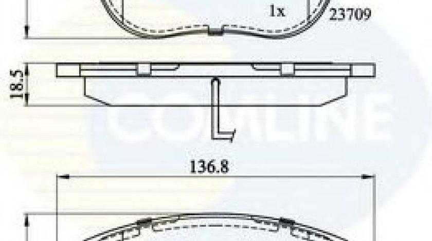 Set placute frana,frana disc FIAT STILO (192) (2001 - 2010) COMLINE CBP11038 piesa NOUA