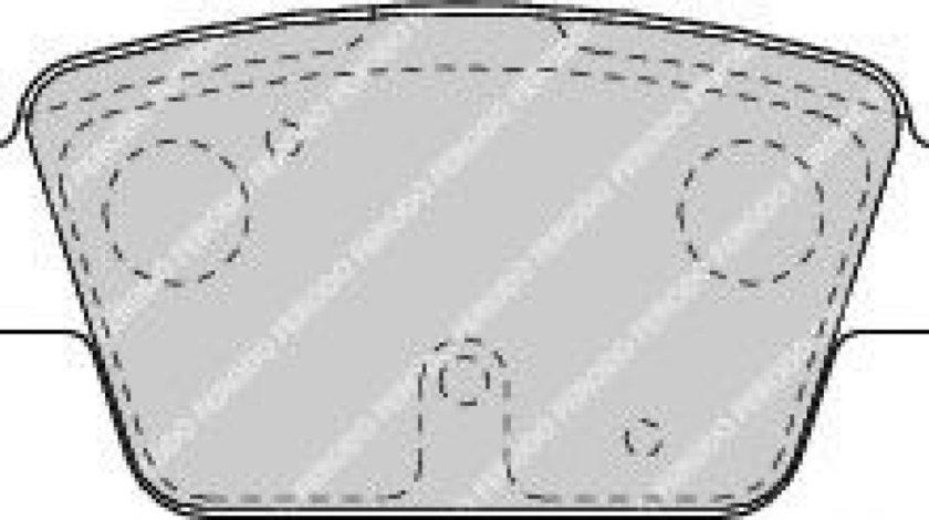 Set placute frana,frana disc FIAT STILO (192) (2001 - 2010) FERODO FDB1469 piesa NOUA