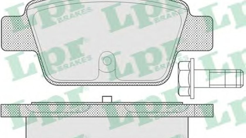 Set placute frana,frana disc FIAT STILO Multi Wagon (192) (2003 - 2008) LPR 05P780 piesa NOUA