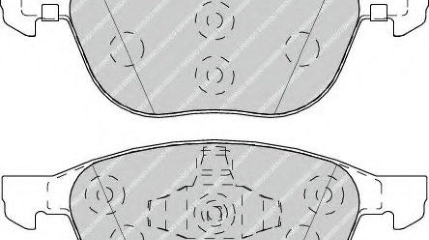 Set placute frana,frana disc FORD ECOSPORT (2011 - 2016) FERODO FDB4319 - produs NOU