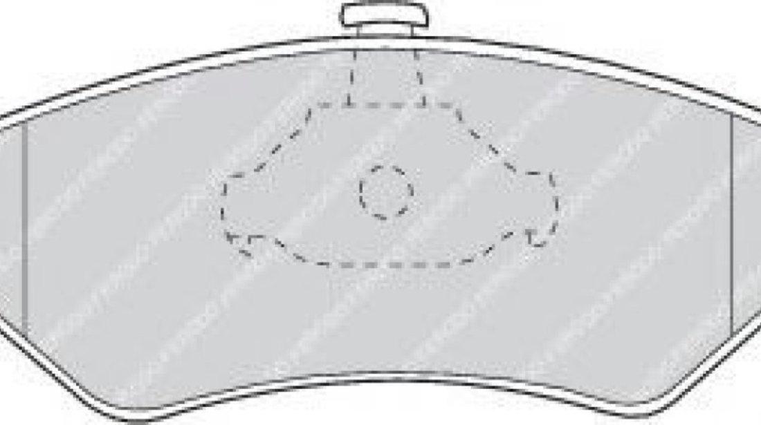Set placute frana,frana disc FORD FIESTA IV (JA, JB) (1995 - 2002) FERODO FDB1082 produs NOU