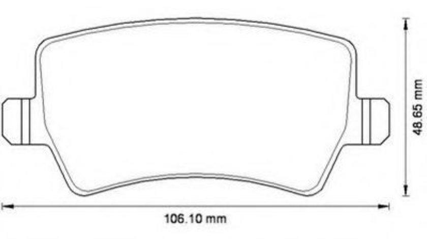 Set placute frana,frana disc FORD GALAXY (WA6) (2006 - 2015) JURID 573250JC produs NOU