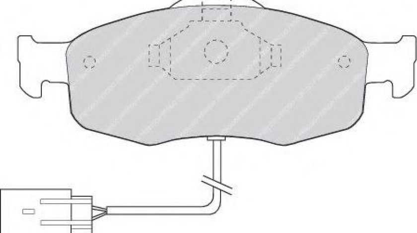 Set placute frana,frana disc FORD MONDEO II Combi (BNP) (1996 - 2000) FERODO FDB766 produs NOU