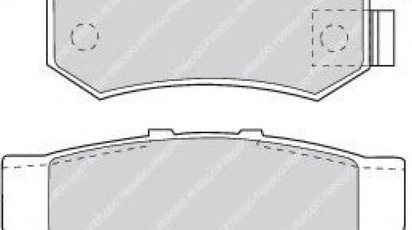 Set placute frana,frana disc HONDA CIVIC VII Cupe (EM2) (2001 - 2005) FERODO FDB956 produs NOU