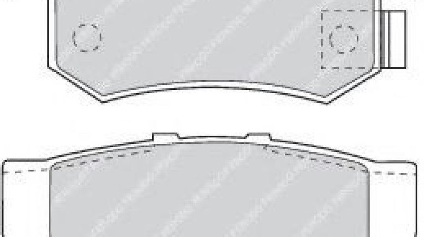 Set placute frana,frana disc HONDA CIVIC VIII Limuzina (FD, FA) (2005 - 2012) FERODO FDB956 produs NOU