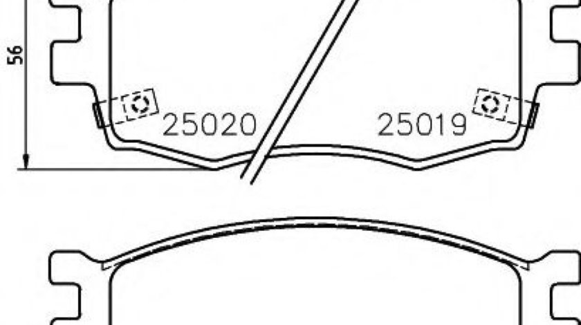 Set placute frana,frana disc HYUNDAI i20 Cupe (2015 - 2016) TEXTAR 2501901 produs NOU