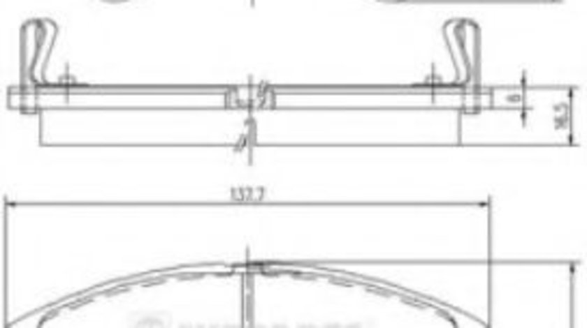 Set placute frana,frana disc ISUZU TROOPER deschis (UB) (1991 - 1998) NIPPARTS J3609009 piesa NOUA
