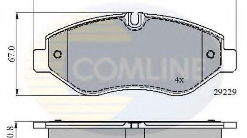 Set placute frana,frana disc IVECO DAILY IV bus (2006 - 2011) COMLINE CBP01616 - produs NOU