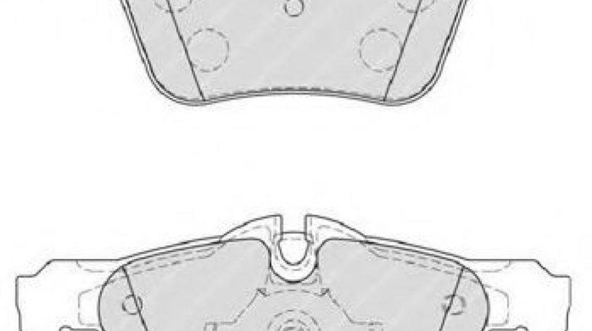 Set placute frana,frana disc JAGUAR S-TYPE (CCX) (1999 - 2009) FERODO FDB4108 piesa NOUA