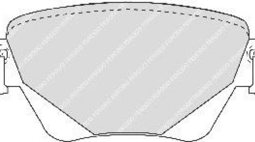 Set placute frana,frana disc JAGUAR S-TYPE (CCX) (1999 - 2009) FERODO FDB1416 piesa NOUA