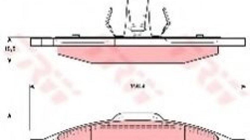 Set placute frana,frana disc MAZDA 3 (BK) (2003 - 2009) TRW GDB1607 produs NOU