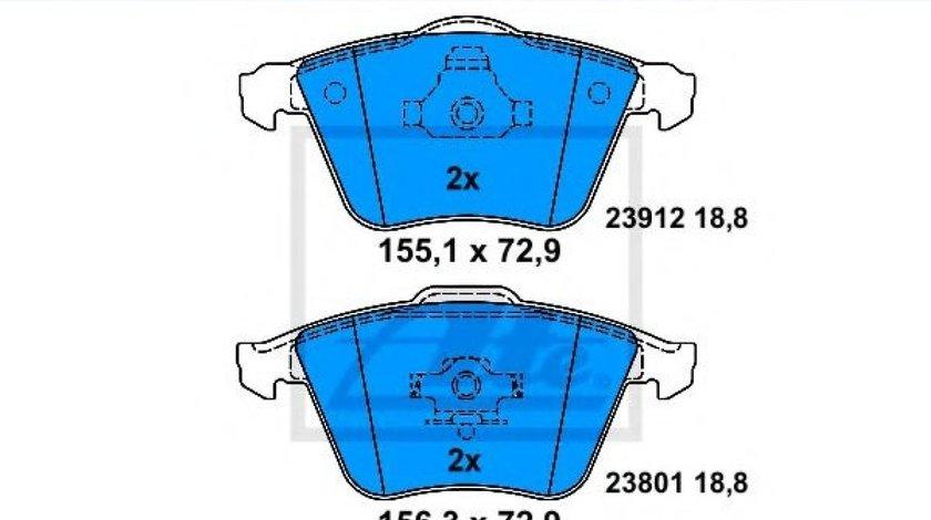Set placute frana,frana disc MAZDA 3 (BK) (2003 - 2009) ATE 13.0460-7204.2 produs NOU