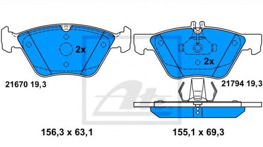 Set placute frana,frana disc MERCEDES S-CLASS (W220) (1998 - 2005) ATE 13.0460-7203.2 produs NOU