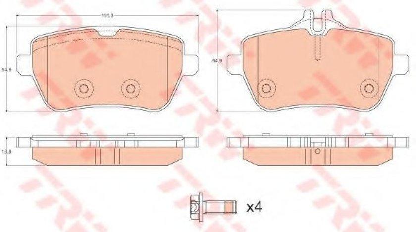 Set placute frana,frana disc MERCEDES S-CLASS (W222, V222, X222) (2013 - 2016) TRW GDB2014 produs NOU