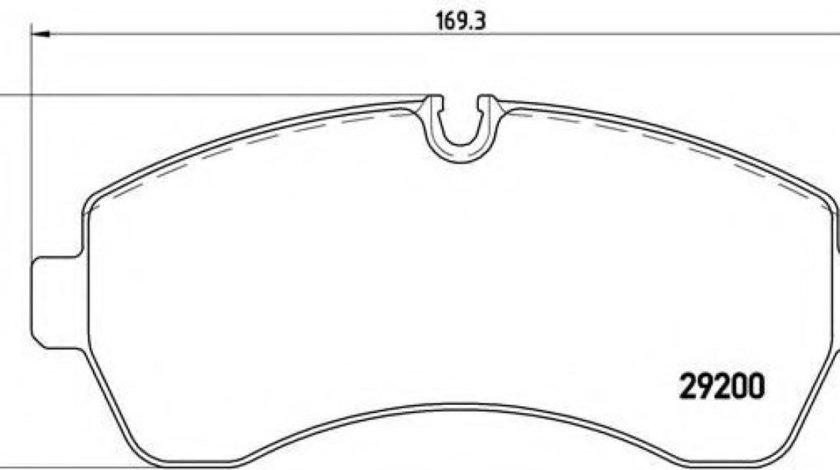 Set placute frana,frana disc MERCEDES SPRINTER 4,6-t caroserie (906) (2006 - 2016) BREMBO P 50 059 produs NOU