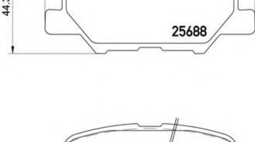Set placute frana,frana disc MITSUBISHI OUTLANDER III (GF, GG, ZJ) (2012 - 2016) BREMBO P 61 111 - produs NOU