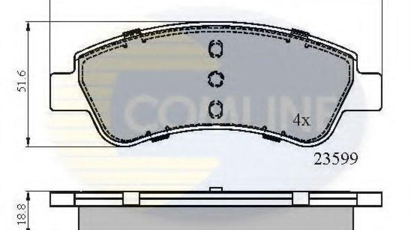 Set placute frana,frana disc PEUGEOT 206 Hatchback (2A/C) (1998 - 2016) COMLINE CBP01525 - produs NOU