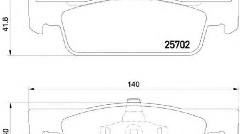 Set placute frana,frana disc RENAULT CLIO IV Grandtour (2013 - 2016) BREMBO P 68 059 - produs NOU
