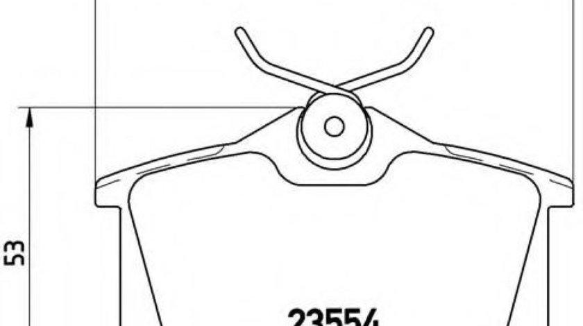 Set placute frana,frana disc SEAT TOLEDO III (5P2) (2004 - 2009) BREMBO P 85 020 - produs NOU