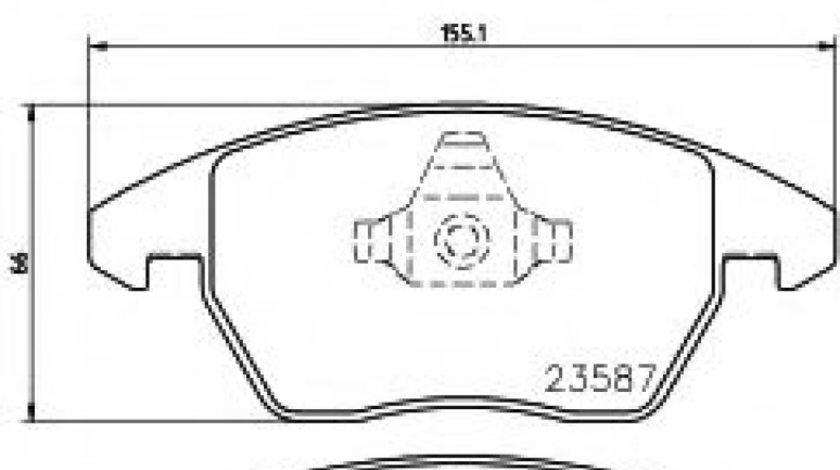 Set placute frana,frana disc SKODA OCTAVIA II (1Z3) (2004 - 2013) TEXTAR 2358781 - produs NOU