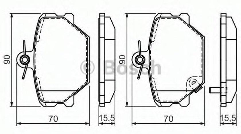 Set placute frana,frana disc SMART FORTWO Cabrio (451) (2007 - 2016) BOSCH 0 986 424 471 produs NOU