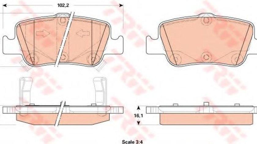 Set placute frana,frana disc TOYOTA AURIS (NRE15, ZZE15, ADE15, ZRE15, NDE15) (2006 - 2012) TRW GDB3480 produs NOU