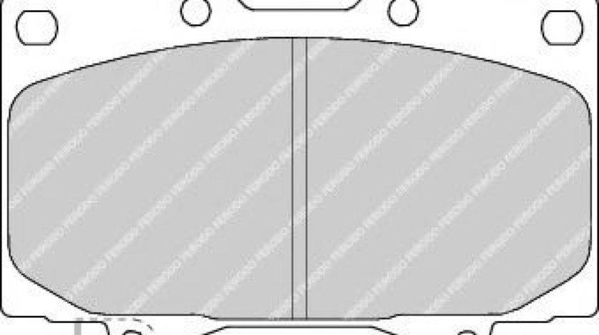 Set placute frana,frana disc TOYOTA LAND CRUISER 150 (KDJ15, GRJ15) (2009 - 2016) FERODO FDB1456 piesa NOUA