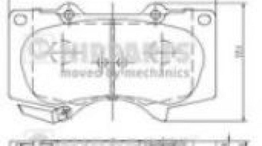 Set placute frana,frana disc TOYOTA LAND CRUISER (LJ12, KZJ12, TRJ12, KDJ12, GRJ12) (2002 - 2009) NIPPARTS J3602109 piesa NOUA