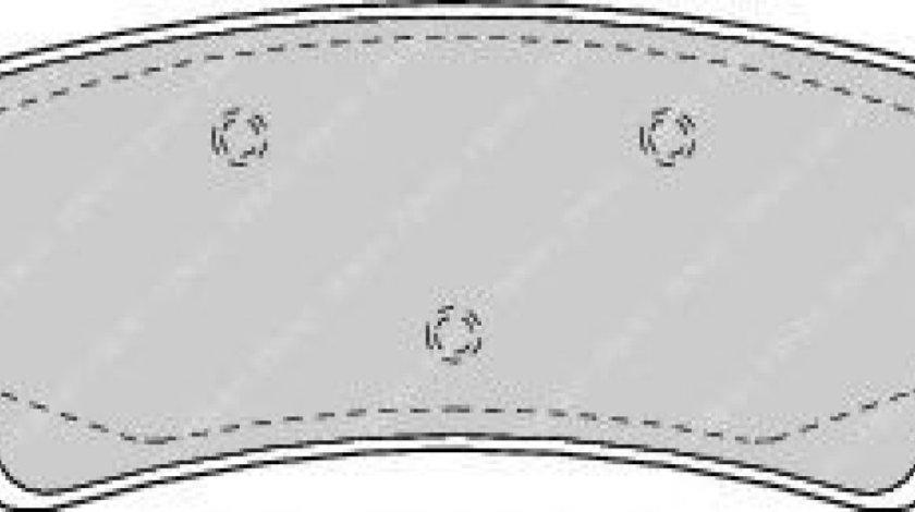 Set placute frana,frana disc TOYOTA LAND CRUISER AMAZON (FZJ1, UZJ1) (1998 - 2007) FERODO FDB1457 piesa NOUA