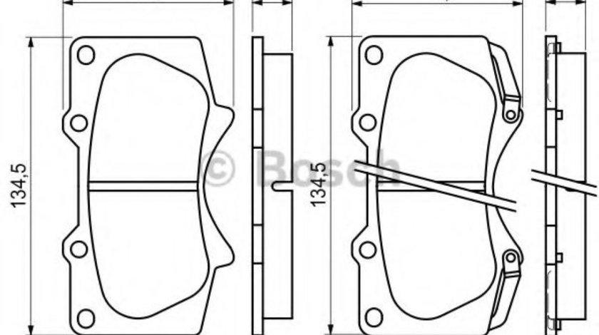 Set placute frana,frana disc TOYOTA LAND CRUISER 150 (KDJ15, GRJ15) (2009 - 2016) BOSCH 0 986 494 153 produs NOU