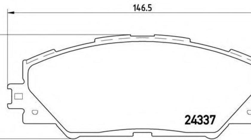 Set placute frana,frana disc TOYOTA RAV 4 III (ACA3, ACE, ALA3, GSA3, ZSA3) (2005 - 2016) BREMBO P 83 071 produs NOU
