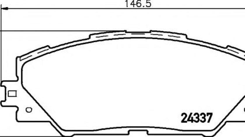 Set placute frana,frana disc TOYOTA RAV 4 III (ACA3, ACE, ALA3, GSA3, ZSA3) (2005 - 2016) TEXTAR 2433701 produs NOU