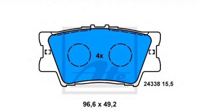 Set placute frana,frana disc TOYOTA RAV 4 IV (WWA4, AVA4, ZSA4, ALA4) (2012 - 2016) ATE 13.0460-5765.2 produs NOU