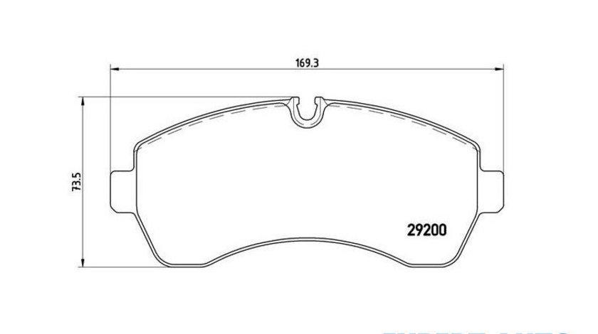 Set placute frana,frana disc Volkswagen Crafter (2006->)[2E_,2F_] #3 0044208220