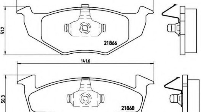 Set placute frana,frana disc VW FOX (5Z1, 5Z3) (2003 - 2016) BREMBO P 85 025 - produs NOU