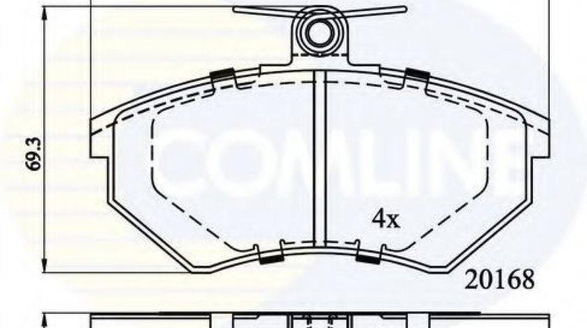 Set placute frana,frana disc VW GOLF III Variant (1H5) (1993 - 1999) COMLINE CBP0511 piesa NOUA