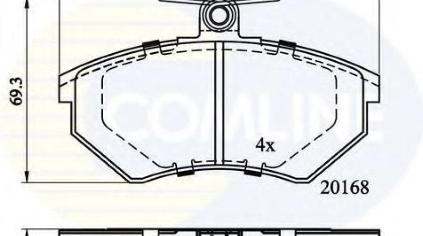 Set placute frana,frana disc VW GOLF III Cabriolet (1E7) (1993 - 1998) COMLINE CBP0152 piesa NOUA