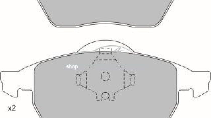 Set placute frana,frana disc VW GOLF IV (1J1) (1997 - 2005) KRIEGER 0950006339 piesa NOUA