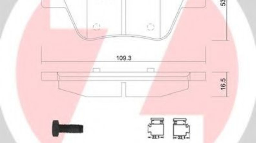 Set placute frana,frana disc VW GOLF VII (5G1, BE1) (2012 - 2016) ZIMMERMANN 24563.165.2 piesa NOUA