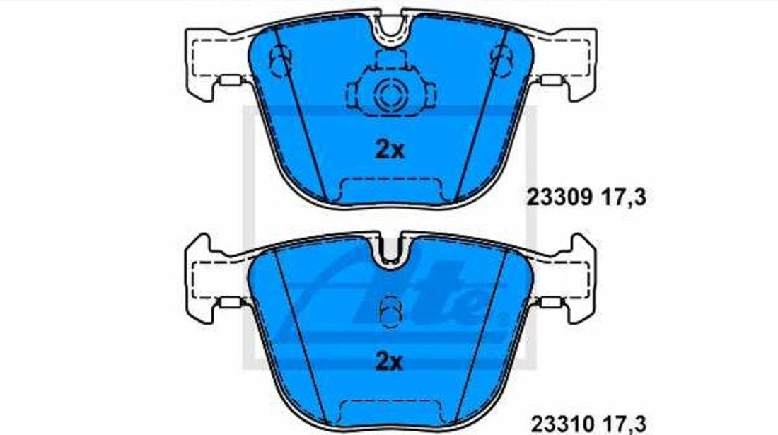 Set Placute Frana Spate Ate Bmw X6 E71 2007-2014 13.0460-7169.2