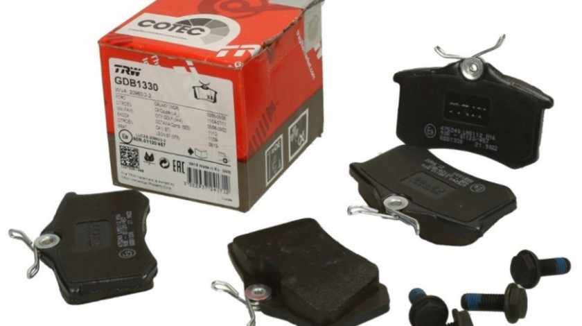 Set Placute Frana Spate Trw Skoda Rapid 2012→ GDB1330