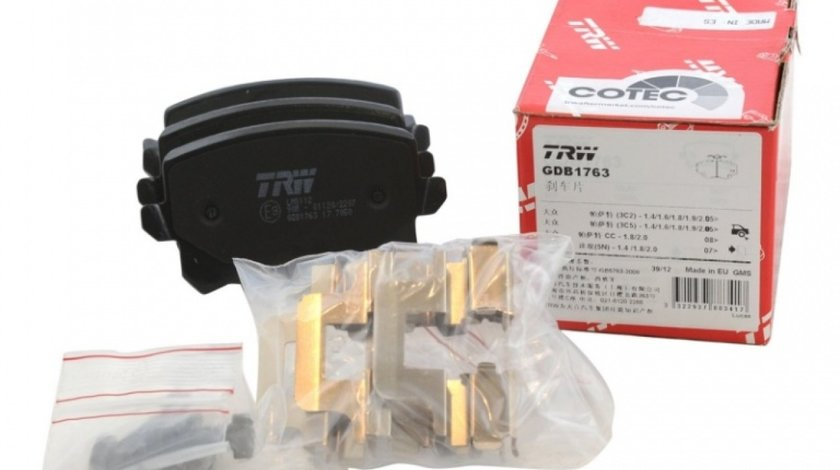 Set Placute Frana Spate Trw Volkswagen Sharan 2 2010→ GDB1763