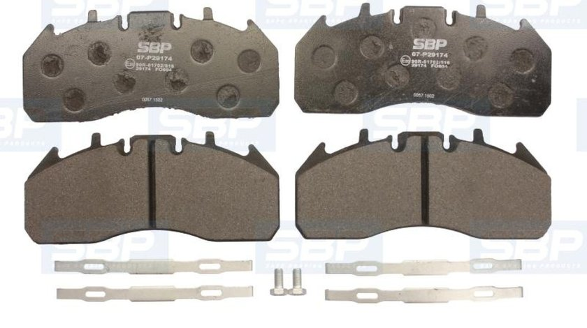 set placute franafrana disc VOLVO FM Producator SBP 07-P29174