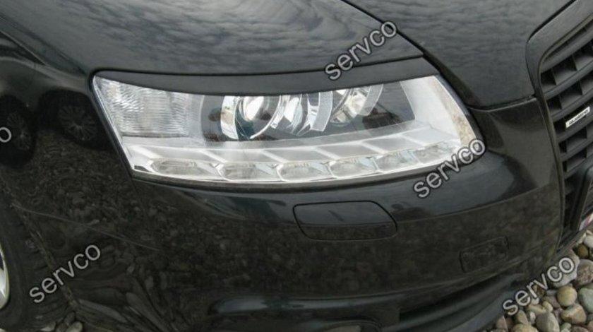 Set pleoape ornamente faruri Audi A6 C6 2004-2011 ABS ver1