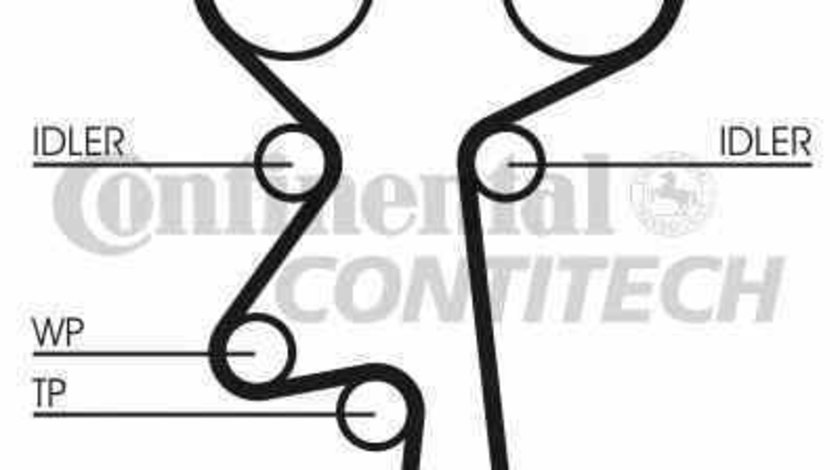Set pompa apa + curea dintata OPEL OMEGA B combi 21 22 23 CONTITECH CT924WP1