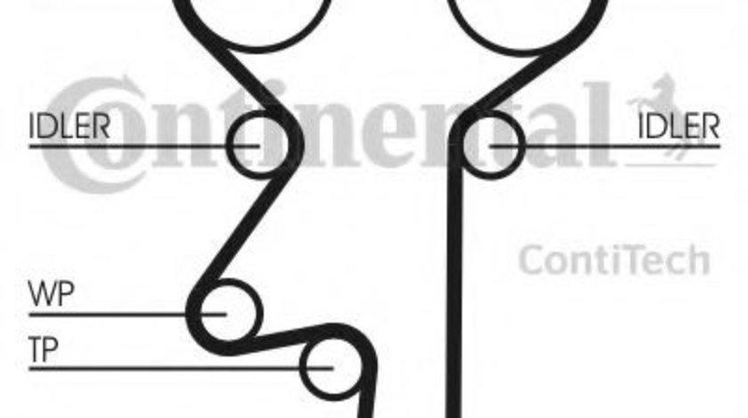 Set pompa apa + curea dintata OPEL ZAFIRA A (F75) (1999 - 2005) CONTITECH CT975WP3 produs NOU