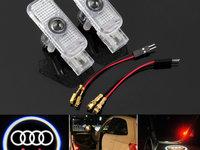 Set proiectoare portiere LED logo AUDI A4, A5, A6, A8 dedicate 7w