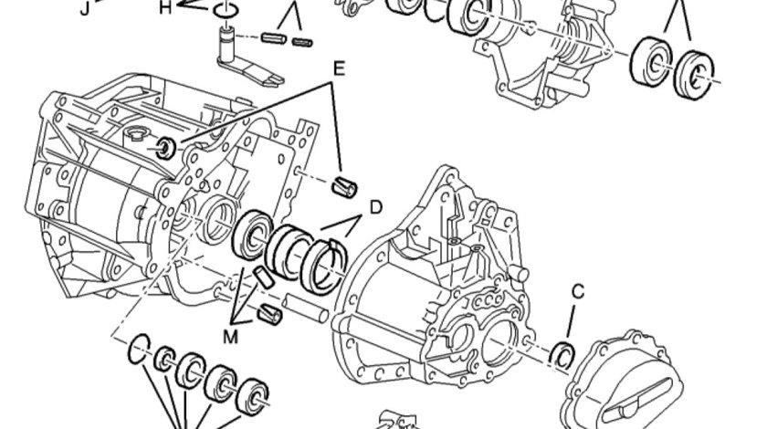 Set reparatie Cutie Viteza tip BE3 Peugeot 307 (poz.1) 2299 37