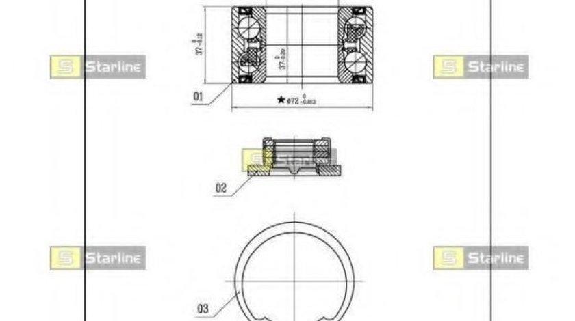 Set rulment roata MAZDA 2 (DY) (2003 - 2016) STARLINE LO 03531 produs NOU